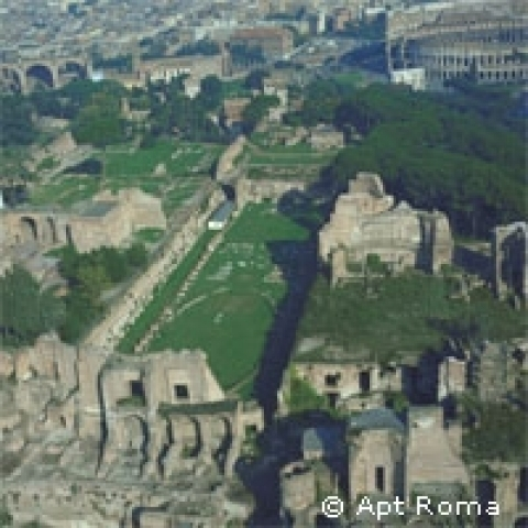 Roma Forum and Colosseum Rome Italy