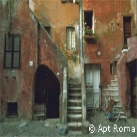 A glance of Trastevere Rome Italy