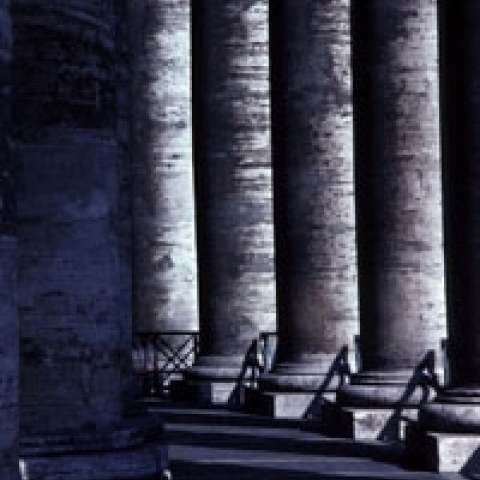 Columns in Vatican City Rome Italy