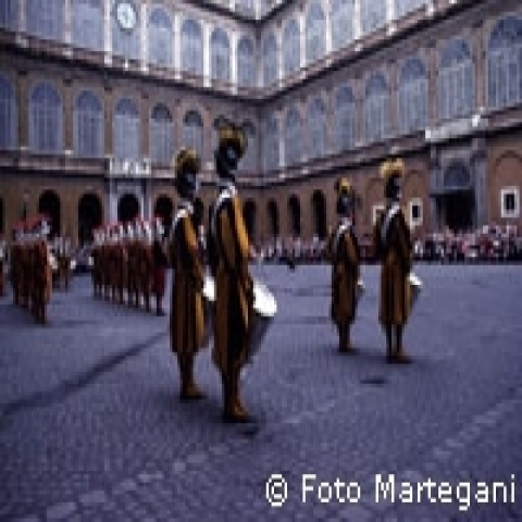 Swiss guards in Vatican City Rome Italy