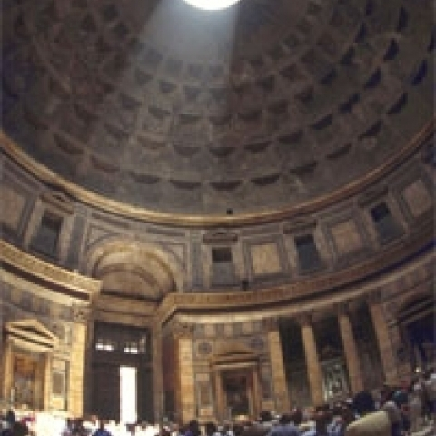 Interior of Pantheon Rome Italy
