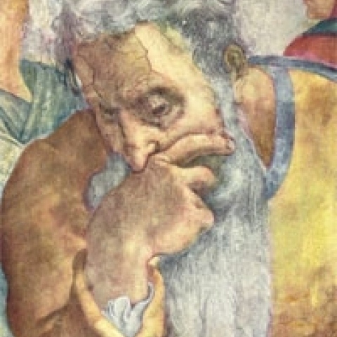 Detail of Sistine Chapel Rome Italy