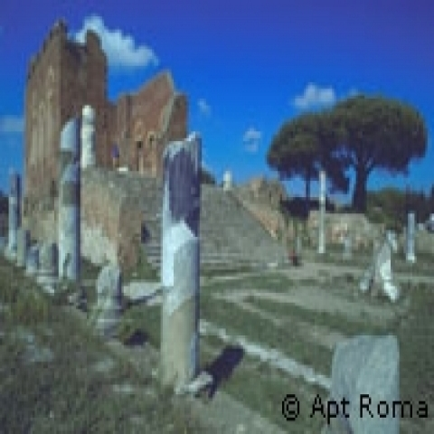 Archeological rests Rome Italy