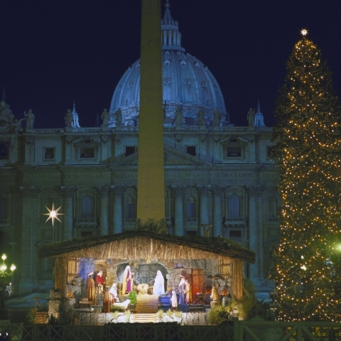 Christmas in Vatican City Rome Italy