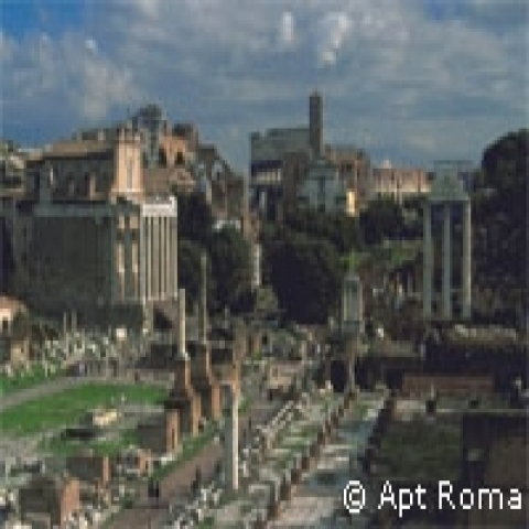 View of the Roman Forum Rome Italy