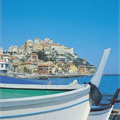 Typical boats Liguria Italy