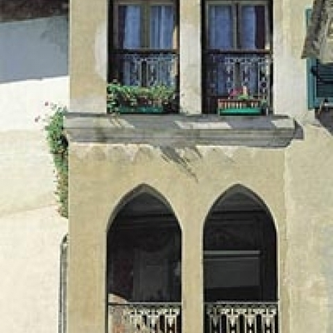 Typical architecture Liguria Italy
