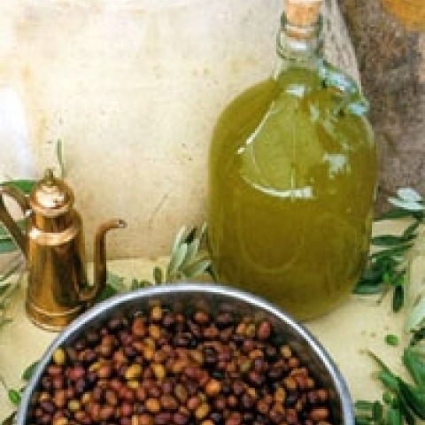 Extra virgin olive oil from Liguria Italy