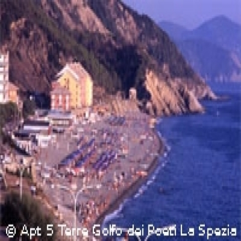 Levanto beach in Cinque Terra area Italy