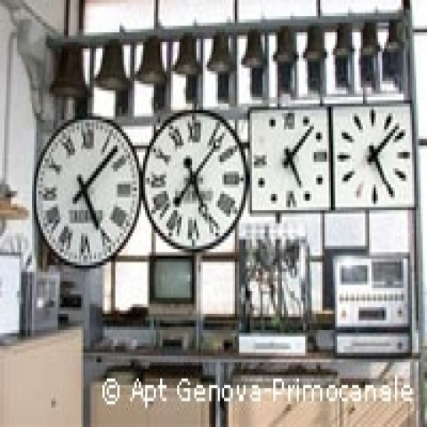 Famous clock factory in Genoa Italy