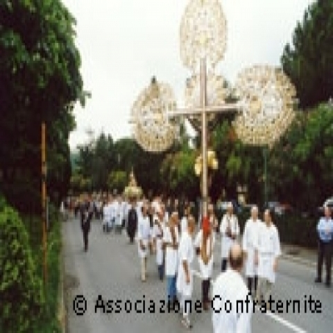 Confraternity procession in Genoa Italy