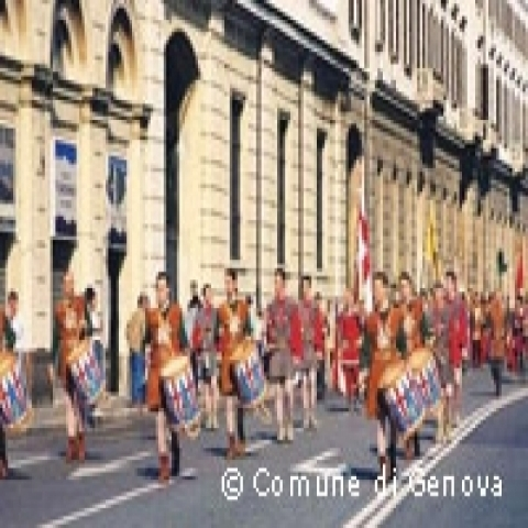 Historical pageant in Genoa Italy