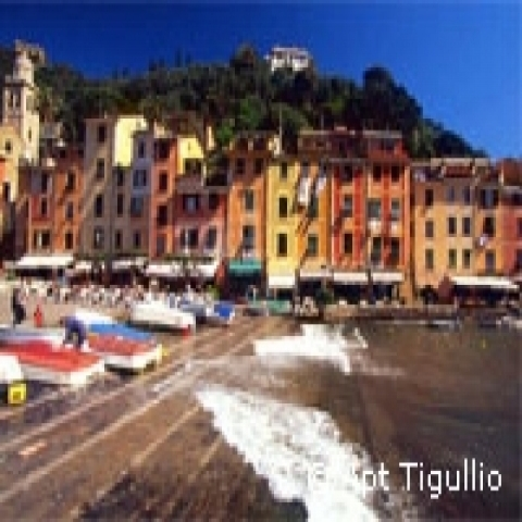 Portofino colored houses Italy