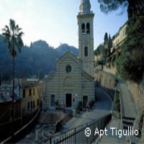 Santa Margherita Ligure Church near Portofino Italy