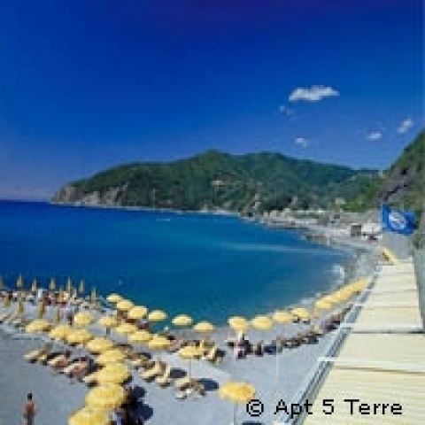 Beach in Rapallo Italy