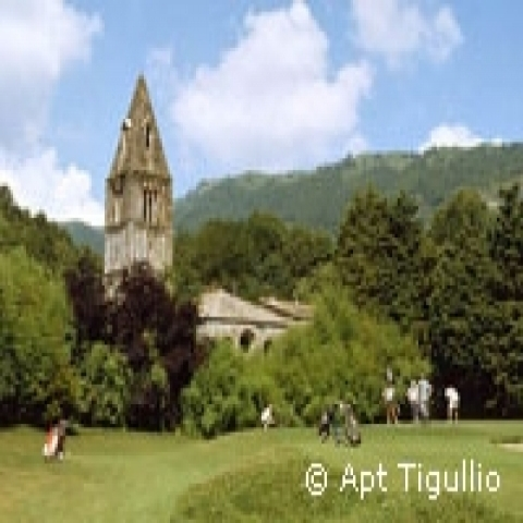 Golf course in Rapallo Italy