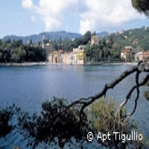 View of Rapallo Coast Italy