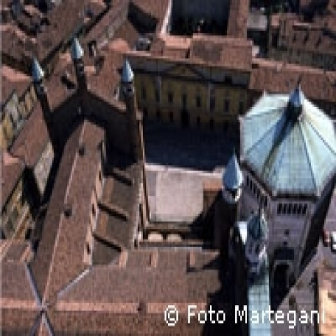 Medieval historical center Lombardy Italy