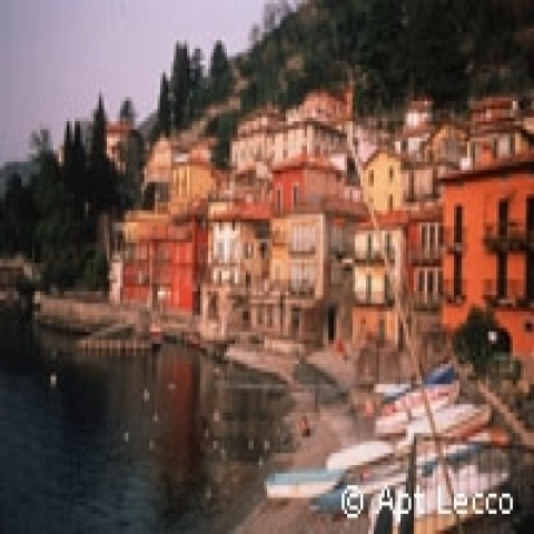 Small fishing village of Varenna Lake Como Italy