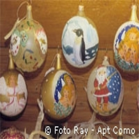 Handmade christmas decorations Lombardy italy