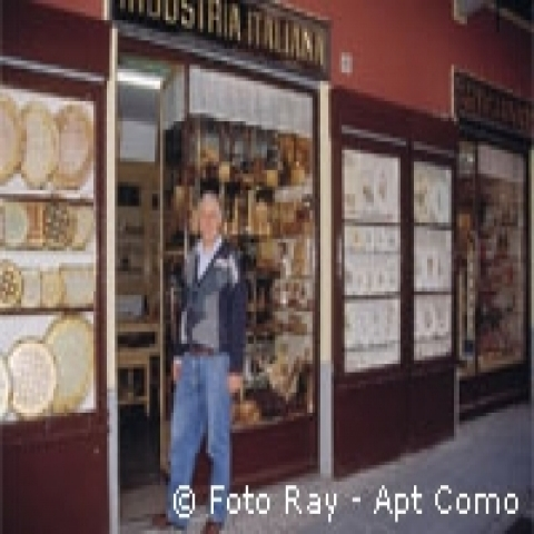 Traditional handicraft shop Lake Como Italy