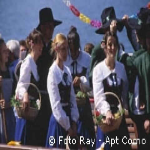 Isola Comacina traditional celebration Lombardy Italy