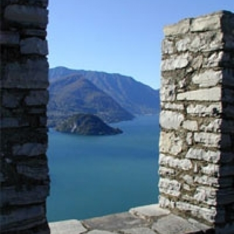 View on the Lake Como Lombardy Italy