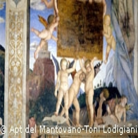 Fresco painting in Mantua Lombardy Italy