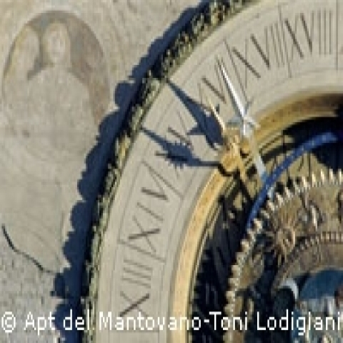 Clock tower Mantua Lombardy Italy