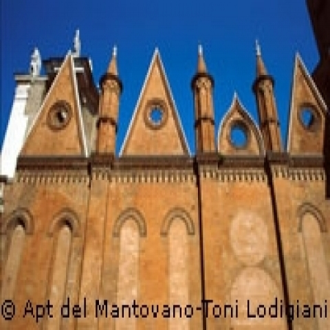 The Cathedral in Mantua Lombardy Italy