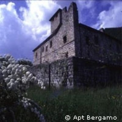 Medieval castle in the province of Bergamo Italy