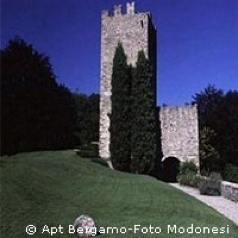 Medieval tower in the province of Bergamo Italy