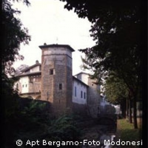 Medieval tower in Bergamo surroundings Italy