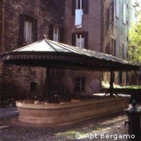 Old washing place Bergamo Italy