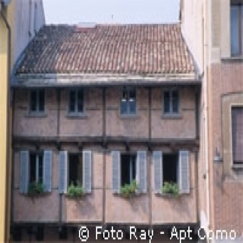 Ancient house in Como Italy