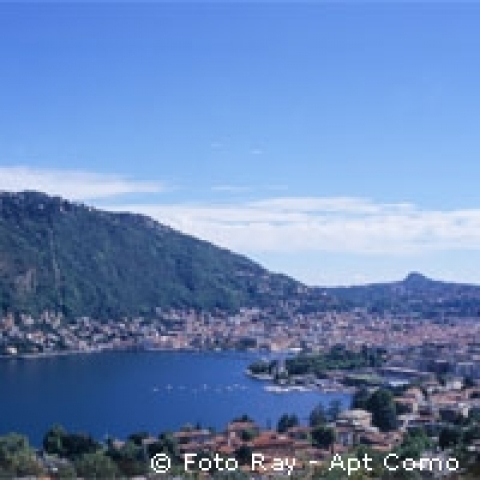 Como view from the lake Italy