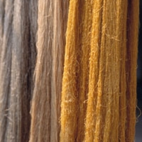 Raw silk yarns Como Italy