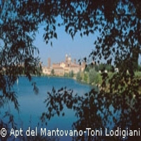 View on the city of Mantua Italy