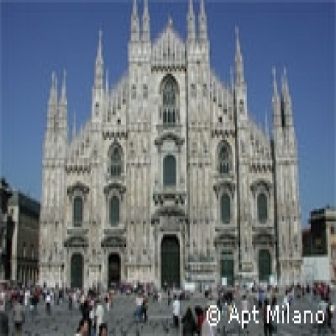 The gothic cathedral Milan Italy