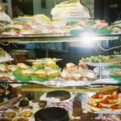 Delicious sweets in Milan Italy