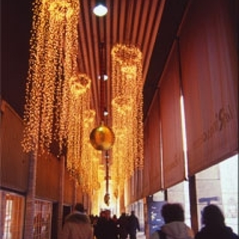 Christmas shopping in the city center Milan Italy