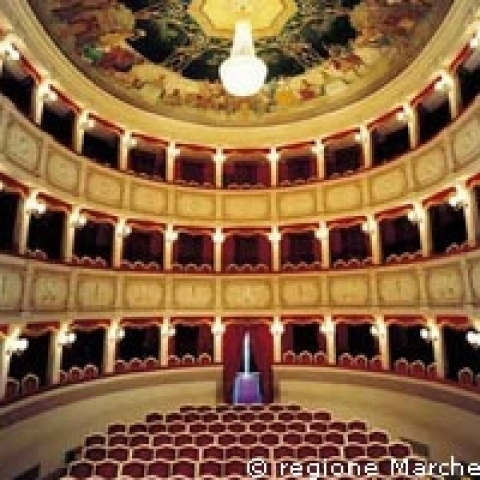 A small old theater in Marche region Italy