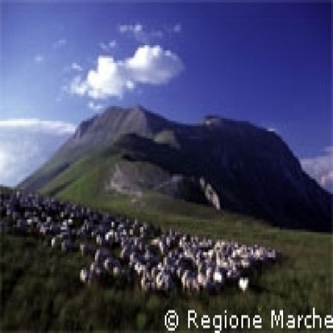 A view of Sibillini mountains Marche Italy