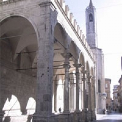 The Loggia of the Merchants in Ascoli Piceno Italy