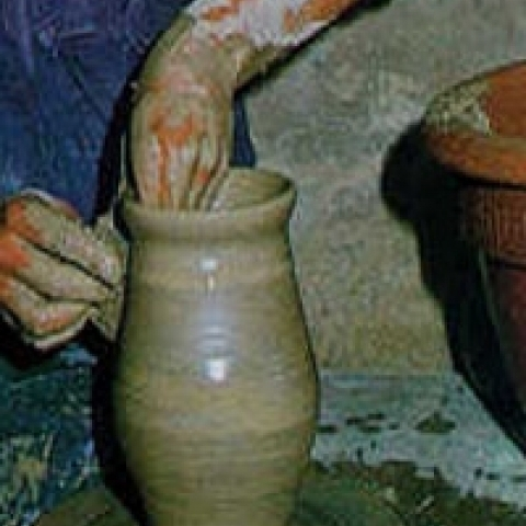 Traditional pottery making in Ascoli Piceno Italy