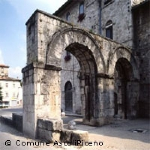 The Roman gate in Ascoli Piceno Italy