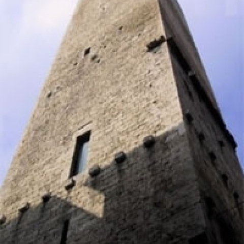 The Ercolani tower in Ascoli Piceno Italy