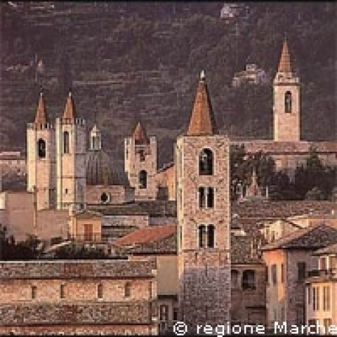 The towers of Ascoli Piceno Italy