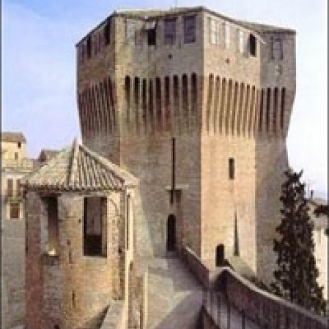 The bridge in Mondavio fortress in Ascoli Piceno area Italy