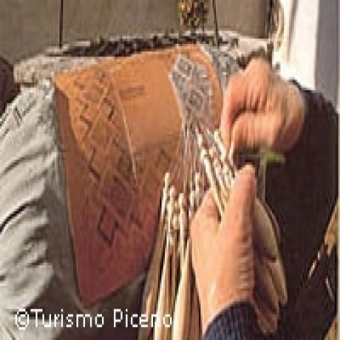 Handmade laces tradition from Ascoli Piceno Italy